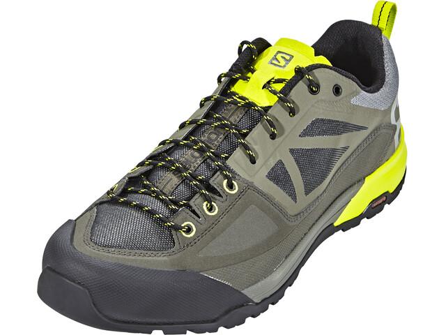 Salomon X Alp Spry Hiking Shoes Men Castor Gray/Beluga/Lime Punch